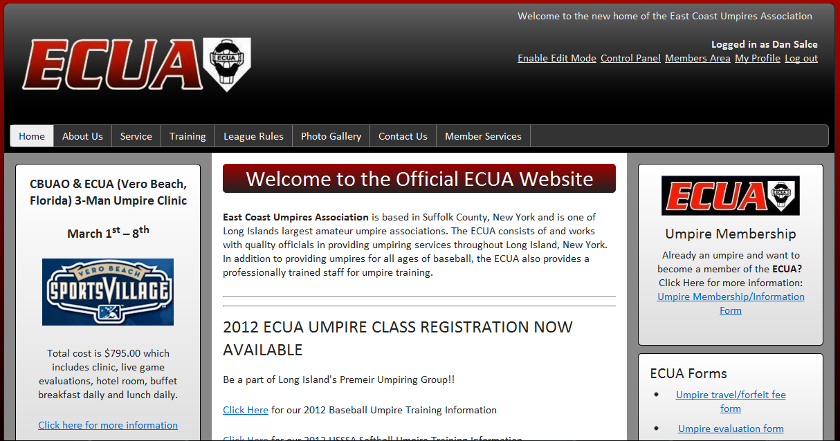 East Coast Umpires Association